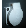 FEMALE SOCKET 230VAC 2P+ GND 16A PANEL MOUNT