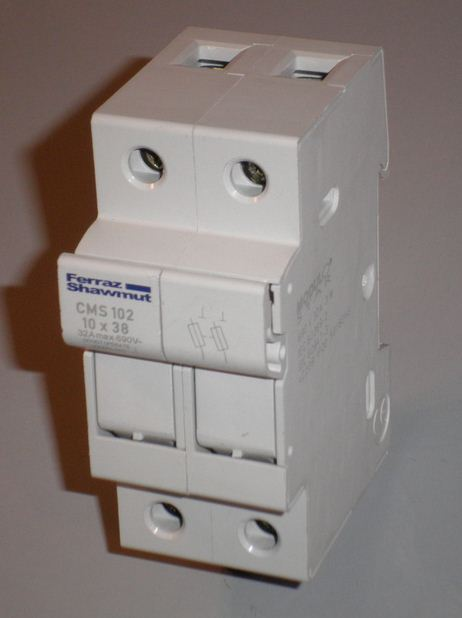 DOUBLE FUSES HOLDER 10.3 x 38
