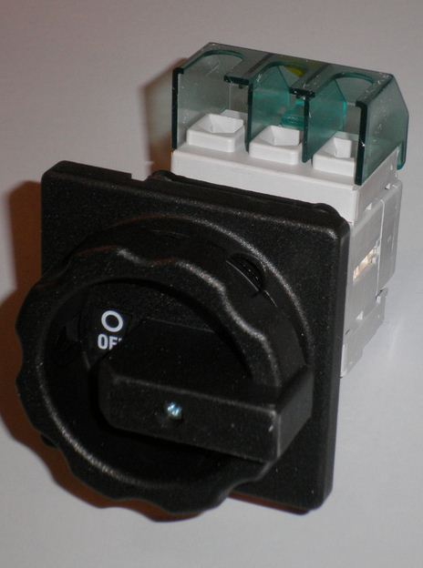 MAIN BLACK ELECTRIC SWITCH 3 POLES 25A